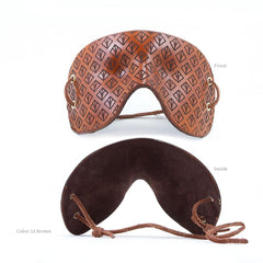 BDSM Mask - Molded and Engraved Leather Mask / Blindfold. Handmade Bondage by LVX Supply & Co.