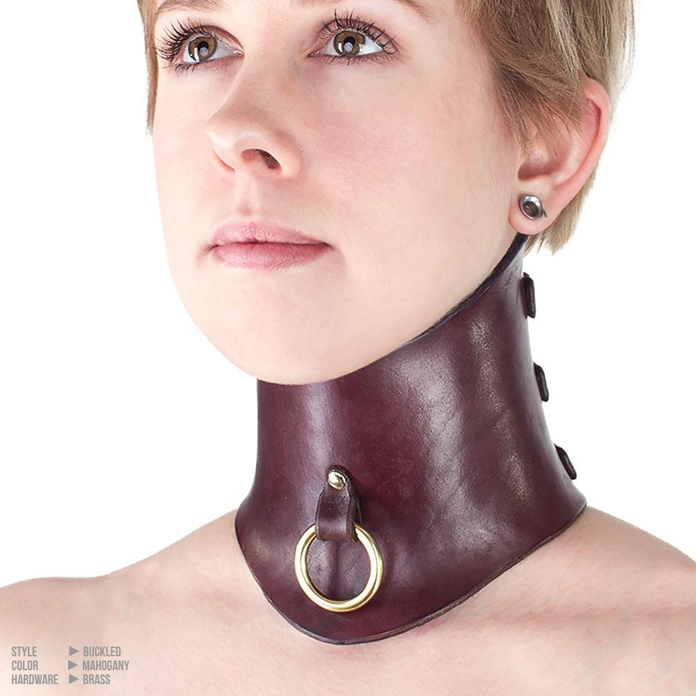 Molded Leather Posture Collar | Bondage by LVX Supply