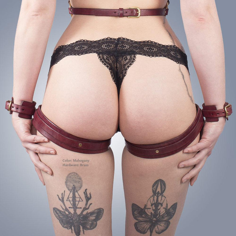 Classic Thigh Harness with Sewn-On Cuffs