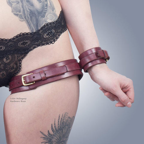 Classic Thigh Harness with Attached Cuffs