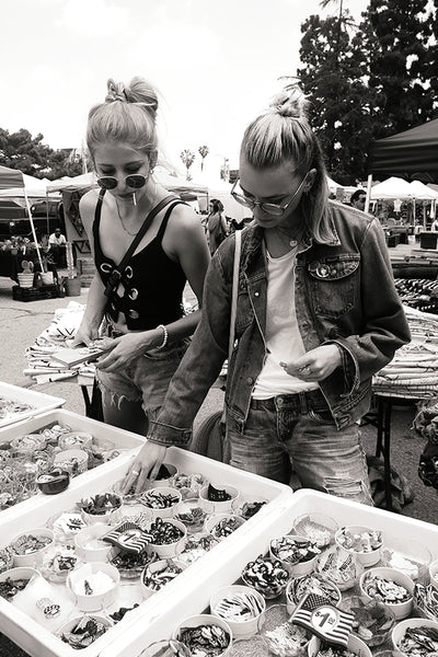 Morgan Jensen and Julia Dunstall at Melrose Flea Market