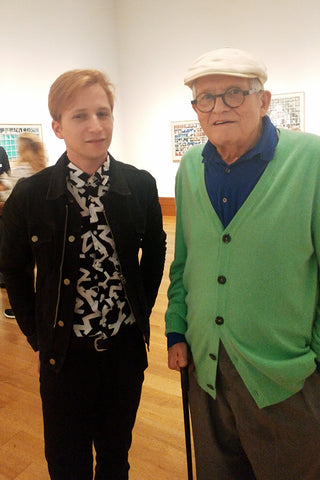 Ty Joseph with David Hockney