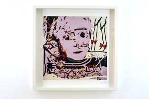 "WARHOL - framed and signed print (20""x20"")"