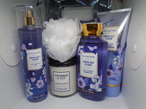 Lilacs & Lily Bath set