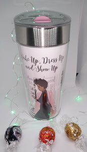 """ Wake up, Dress Up ..... Travel Mug w/ Lindt Chocolate"