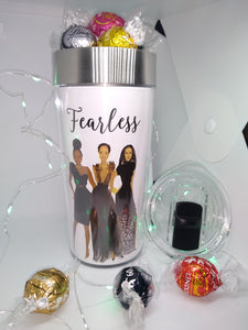 """ Fearless "" Travel Mug w/ Lindt Chocolate"