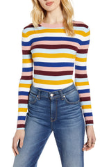 Halogen Ribbed Sweater Stripe
