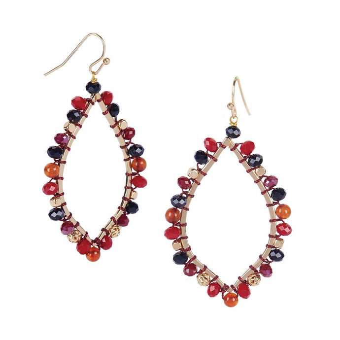 Coco and Carmen Beaded Dangle Earrings