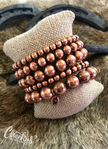 Copper 5 Strands Stretchy Bracelets