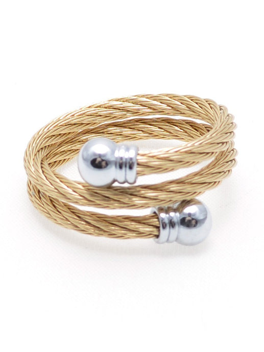 Have a Ball Twist Ring in Gold with Silver Accents