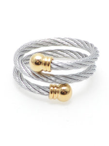 Have a Ball Twist Ring in Silver with Gold Accents