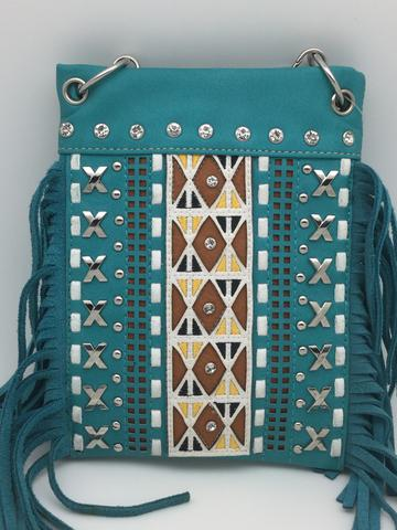 Chic Bags - Fringe with Studs in Turquoise