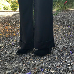 Julian Chang Cuffed Pant in Black