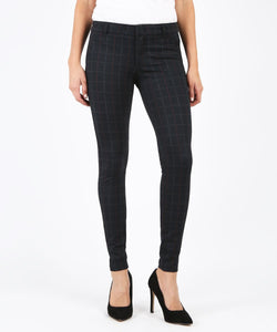 Black Grey Plaid Mia Skinny Pants by Kut/SIZES 4,6,8,16 LEFT
