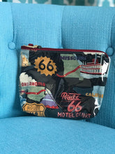 Accessories Pouch - Route 66/Cow Print