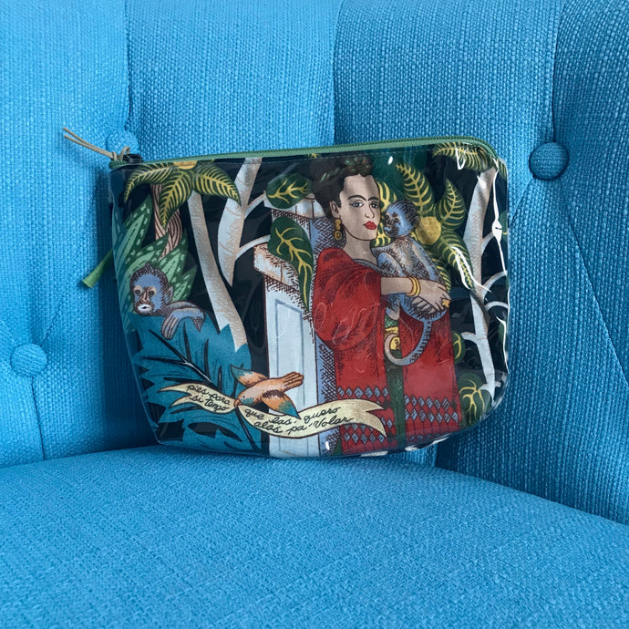 Accessories Pouch - Women Holding Monkey