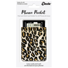 Phone Pocket in Faux Leather Leopard