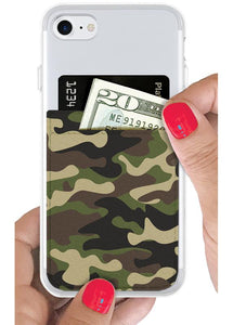 Phone Pocket in Camo Faux Leather