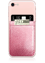 Phone Pocket in Rose Gold Faux Leather