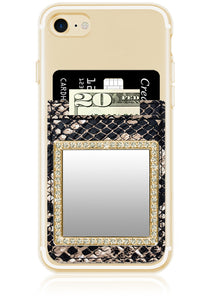 Phone Pocket in Python Faux Leather