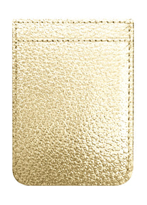 Phone Pocket in Gold Faux Leather