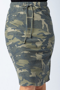 Camo Drawstring Skirt - ONLY 1S, 1M LEFT