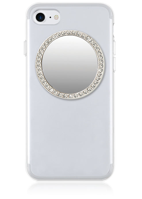 Phone Mirror ROUND  in Silver