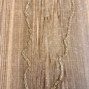 Modern Oval Gold Filled Chain Necklace