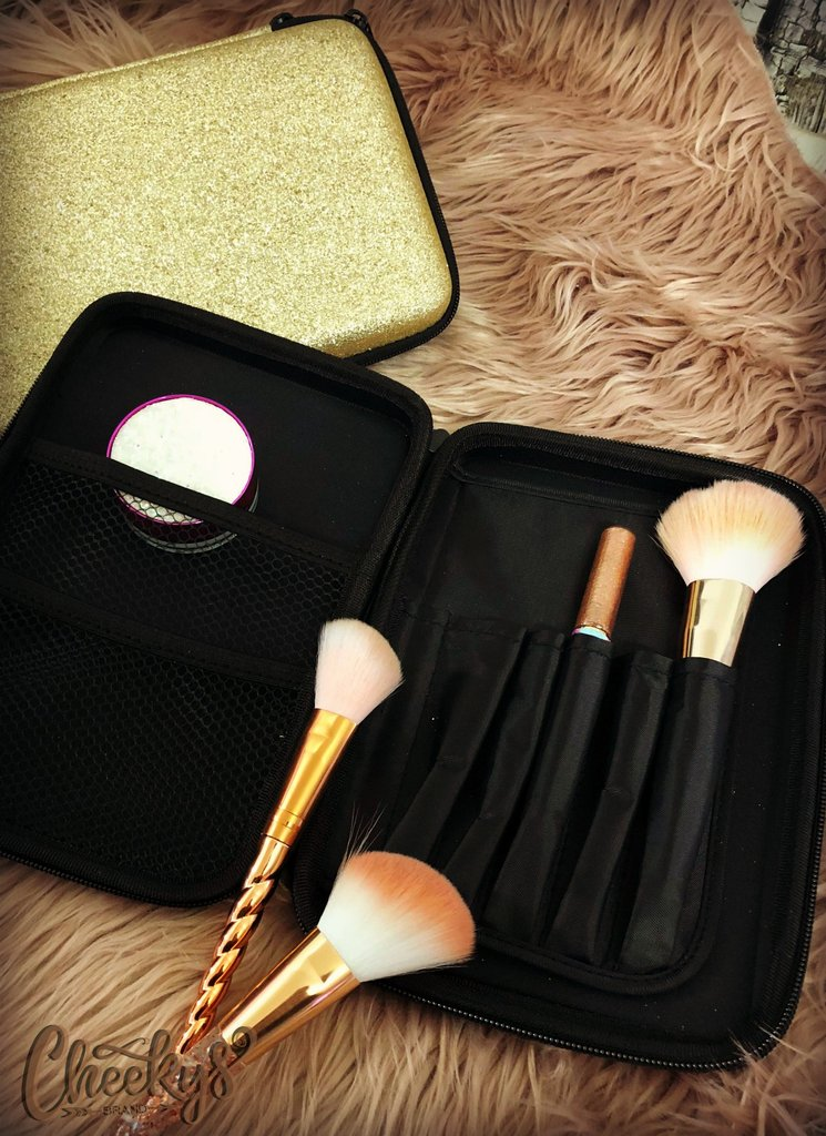 Gold Glitter Travel Case