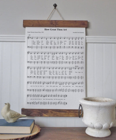 How great thou art/wall art/music notes/christian art/canvas print/framed art/picture frame/home decor/wall art