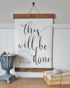 Thy will be done/matthew 6:10/Canvas wall art/canvas art print/wall decor/home decor