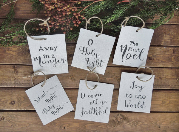 Christmas ornaments/Christmas gift tags/christmas songs/christmas decor/christmas wall art/wall art/farmhouse art