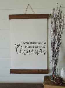 Christmas art/have yourself a merry little christmas/christmas decor/christmas wall art/wall art/farmhouse art