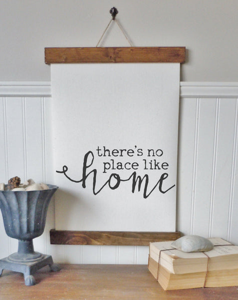 There's no place like home/calligraphy sign/canvas print/framed art/wall art/wood sign