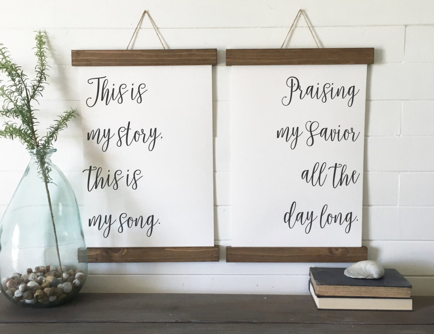 This is my story, this is my song, praising my Savior all the day long/canvas art print/wall art/canvas print/wall decor/set of 2