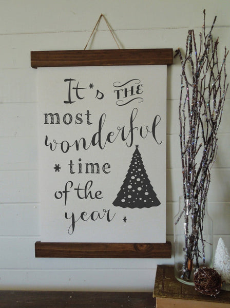 Christmas art/It's the most wonderful time/christmas decor/christmas wall art/wall art/farmhouse art