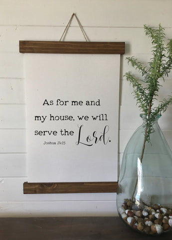 As for me and my house/joshua 24:15/Custom name/canvas print/wall art/framed print