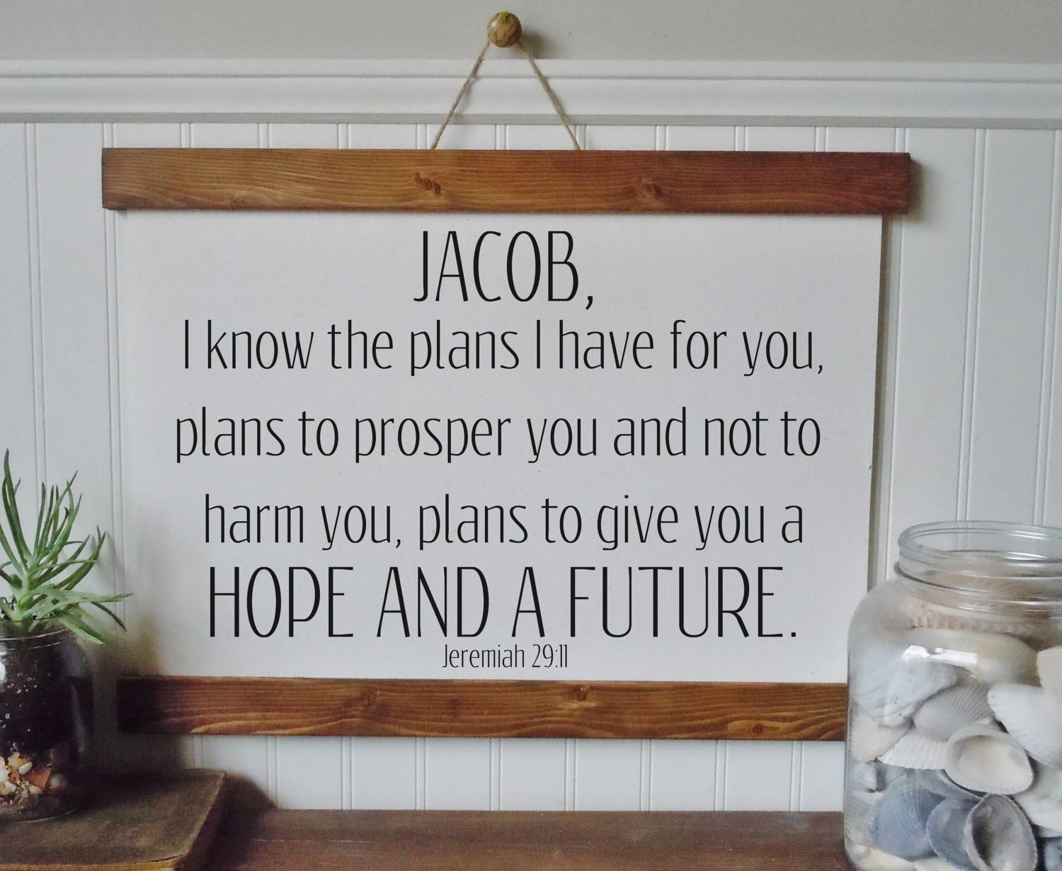 I know the plans I have for you/personalized/Jeremiah 29:11/wall art/canvas print/laurel wreath/canvas wall art/wall decor