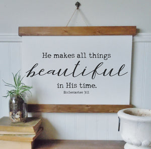 He makes all things beautiful/ecclesiastes3:11/spring decor/wall art/canvas print/canvas wall art/wall decor