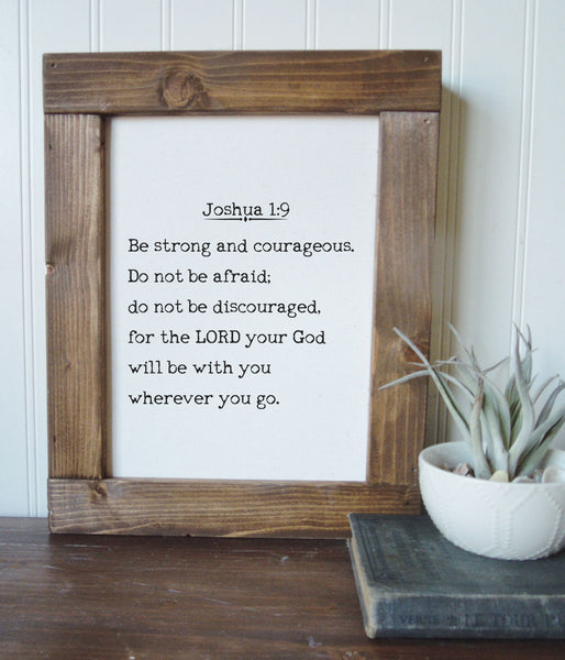 Be strong and courageous/Joshua 1:9/canvas art print/wall art/canvas print/wall decor