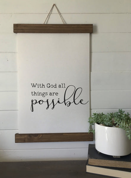 With God, all things are possible/wall art/canvas print/canvas wall art/wall decor