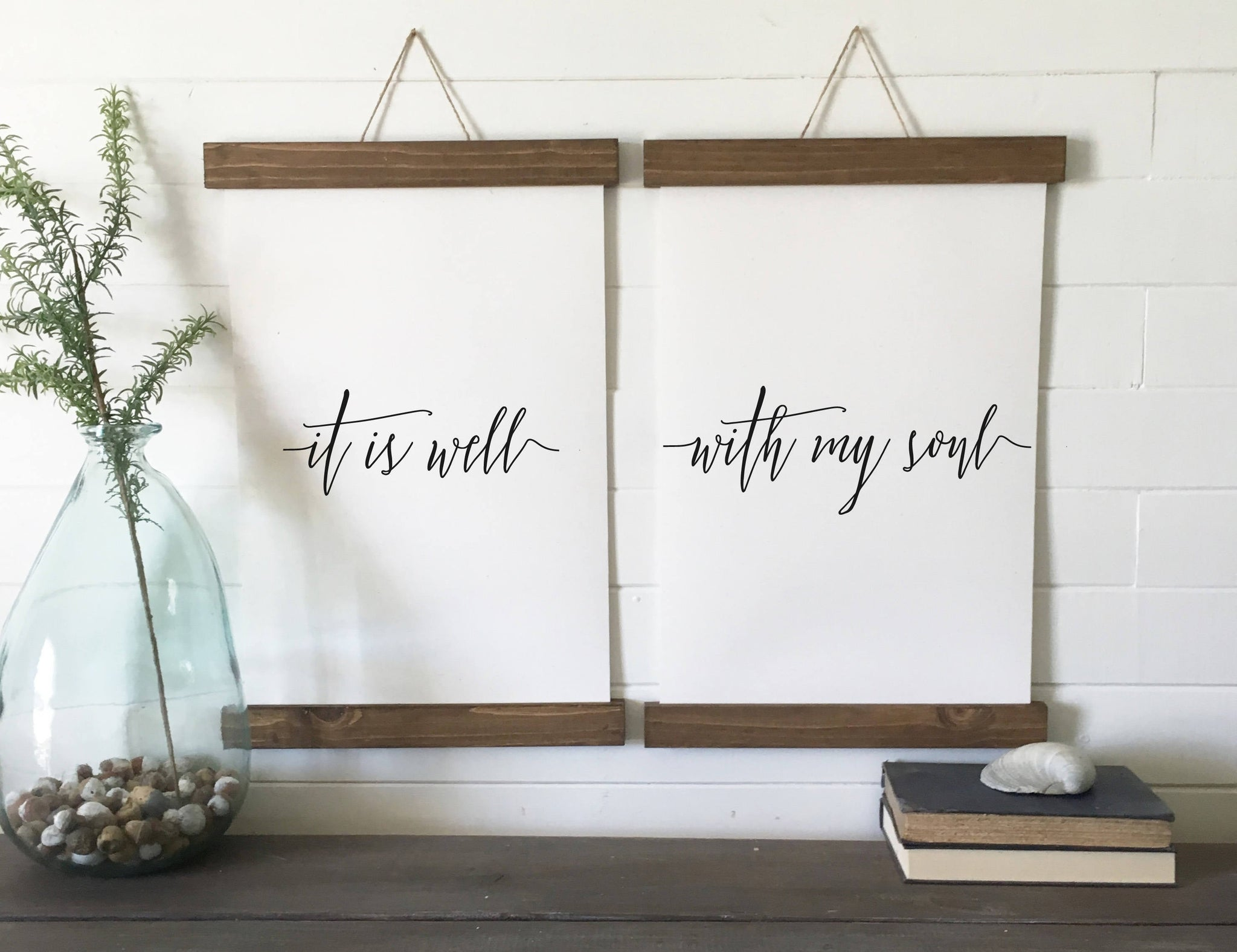 It is well with my soul/canvas art print/wall art/canvas print/wall decor/set of 2