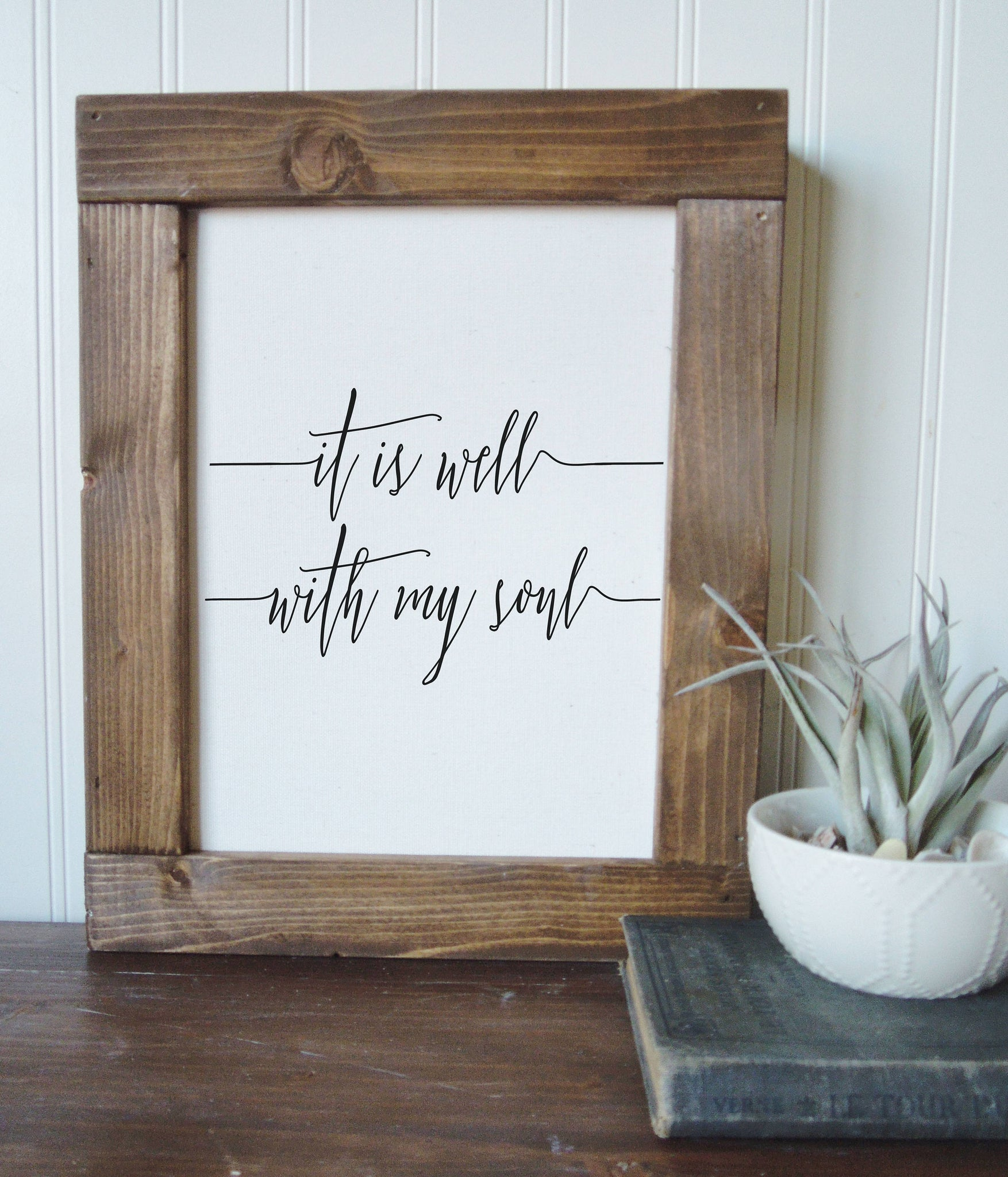 It is well with my soul/canvas art print/wall art/canvas print/wall decor