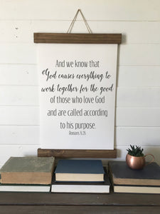 Romans 8:28/canvas art print/wall art/canvas print/wall decor