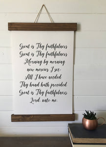 Great is thy faithfulness/canvas art print/wall art/canvas print/wall decor