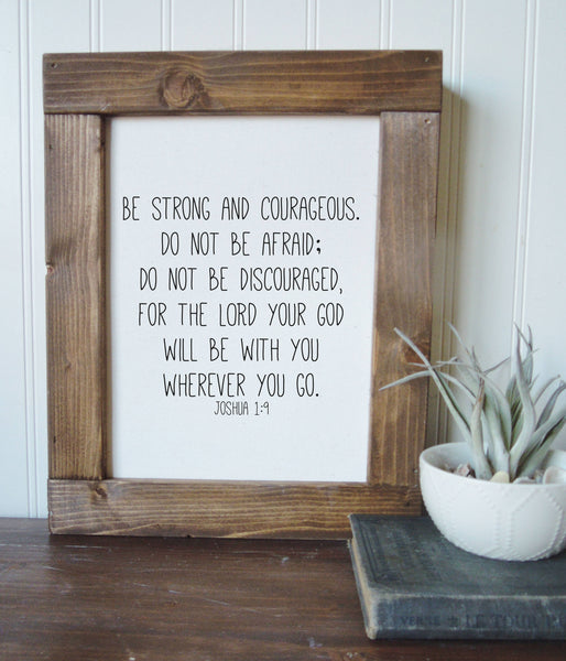Be strong and courageous/Joshua 1:9/boys room decor/canvas art print/wall art/canvas print/wall decor