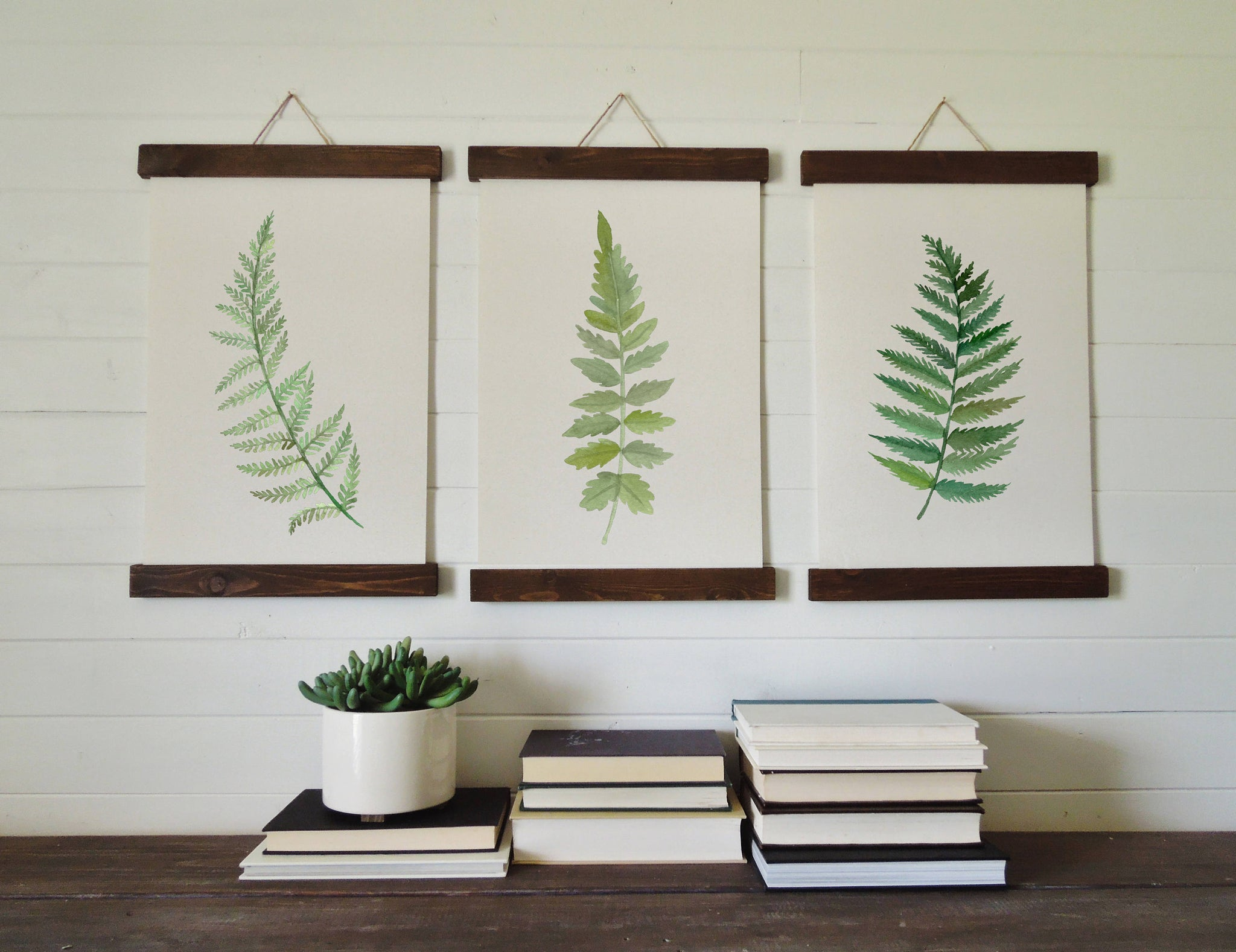 Fern prints/fern print set/botanical wall art/canvas art print/wall art/home decor