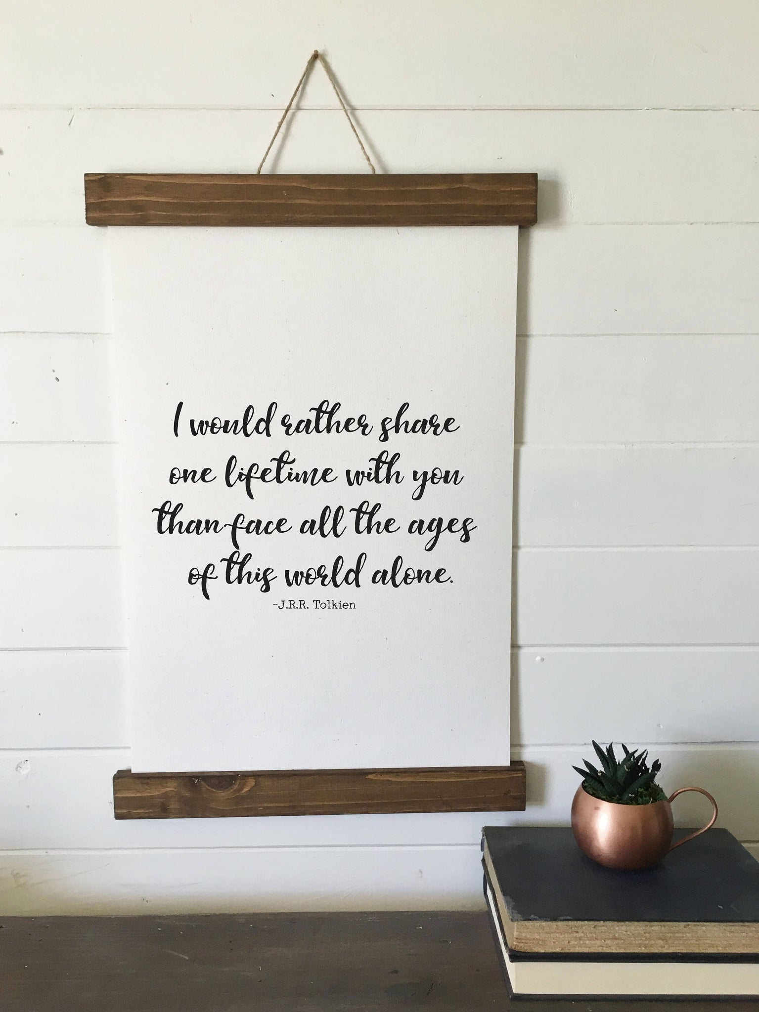 I would rather share/Tolkien quote/Valentines day/home/canvas art print/wall art/canvas print/wall decor