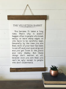 The Velveteen Rabbit/book quote print/canvas art print/wall art/canvas print/wall decor