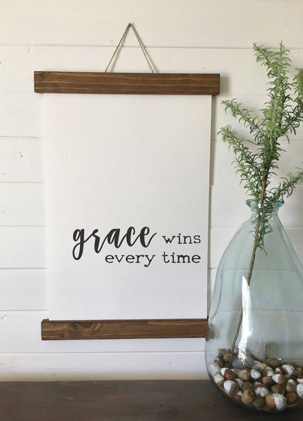 grace wins everytime/easter print/canvas print/framed art/home decor/wall art